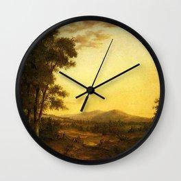 Asher Brown Durand - Hudson River Landscape Wall Clock