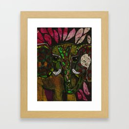 brown ele Framed Art Print