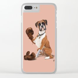 The Boxer (colour) Clear iPhone Case
