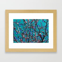 Cherry Blossoms Evil Eyes Framed Art Print