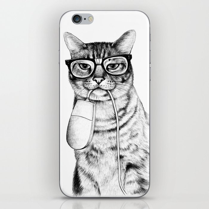 Mac Cat iPhone Skin