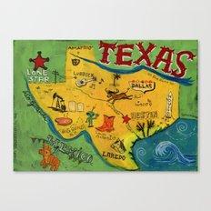 Postcard from Texas print Canvas Print