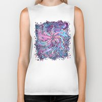 mosaic Biker Tanks featuring Mosaic by Antracit