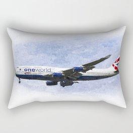 One world Boeing 747 Art Rectangular Pillow