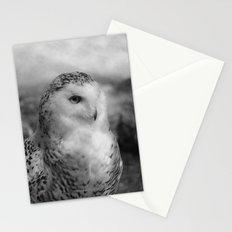 Snowy Owl - B & W Stationery Cards
