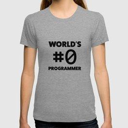 World's #0 programmer T-shirt
