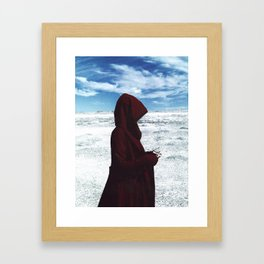The Red Woman Framed Art Print