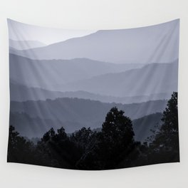 Misty morning at the Smoky's Wall Tapestry