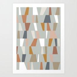 Neutral Geometric 01 Art Print