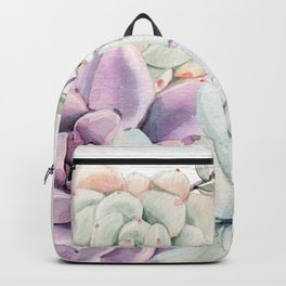 Succulents Mint and Purple by Nature Magick Backpack