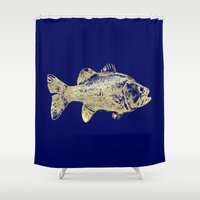goldfish Shower Curtains featuring goldfish by EnglishRose23
