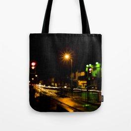 Stop light speedway Tote Bag
