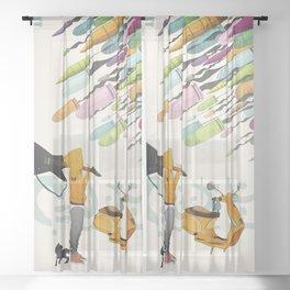 Spring Bullets Sheer Curtain