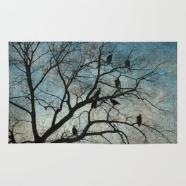 American Bald Eagles Roost Silhouette  Rug