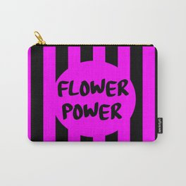 flower power feminist saying Carry-All Pouch