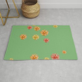 DAISIES - tricolor Rug