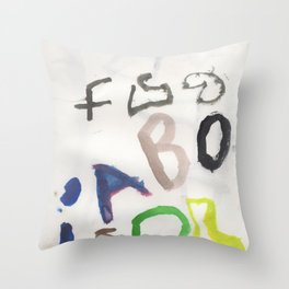 Letters for CORM Throw Pillow