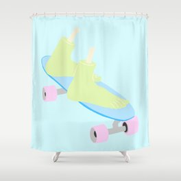 skateboarding til death Shower Curtain