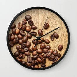 Morning Coffee Beans Wall Clock