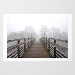 Fog on the Huron Art Print