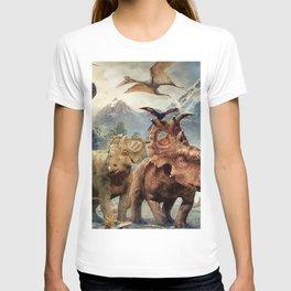 Jurassic dinosaurs playing T-shirt