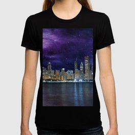 Spacey Chicago Skyline T-shirt