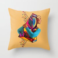 stockholm Throw Pillows featuring Stockholm Syndrome by Eugenia Loli