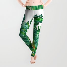 tropical green 2 Leggings