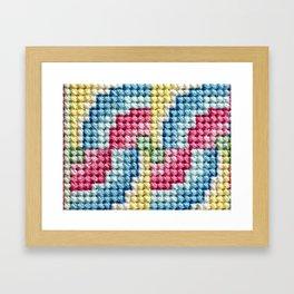 X Stitches Framed Art Print