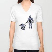 robocop V-neck T-shirts featuring Robocop by dutyfreak