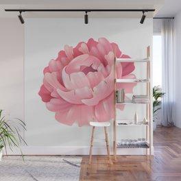 Pink Flower Wall Mural