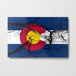 Colorado Flag Metal Print