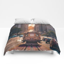San Francisco Trolley (Color) Comforters