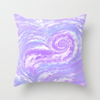 psych Throw Pillows featuring Psych Tentacle by ShinyKiiwii
