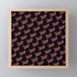 Sexy Word Motif Pattern Design Framed Mini Art Print