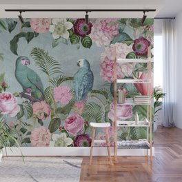 Parrots Jungle Rendevous Wall Mural