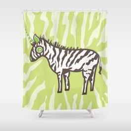 Cute Zebra Unicorn  Shower Curtain