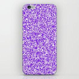 Tiny Spots - White and Indigo Violet iPhone Skin