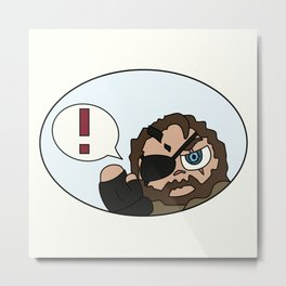 MGS Big Boss Venom Snake Metal Print