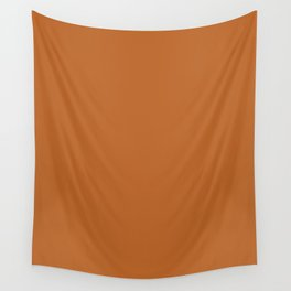 Ruddy brown - solid color Wall Tapestry