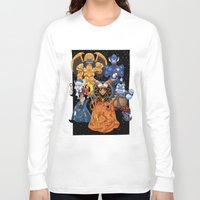 power rangers Long Sleeve T-shirts featuring Villains in Mighty Morphin Power Rangers by Bowserina