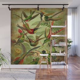 HUMMINGBIRD COLLAGE- Ernst Haeckel Wall Mural