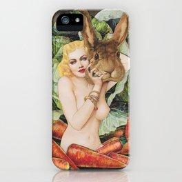 Vegan Bunny iPhone Case