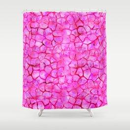 Pink Giraffe Print Shower Curtain