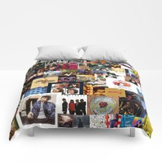 Classic Rock And Roll Albums Collage Comforters