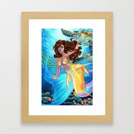 Hawaiian Mermaid Framed Art Print