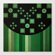 green shapes Canvas Print