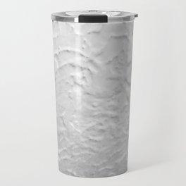 White Textured Wall Travel Mug