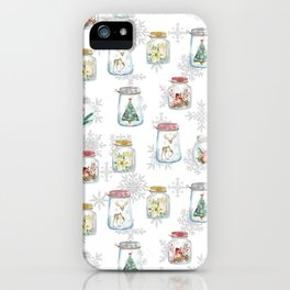 Christmas glass jars iPhone Case