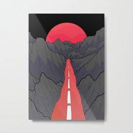 Follow the Red Road Metal Print